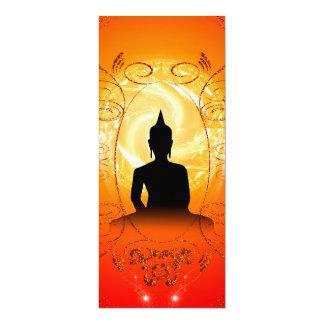 Buddha on mysical background 10 cm x 24 cm invitation card