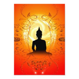 Buddha on mysical background 13 cm x 18 cm invitation card