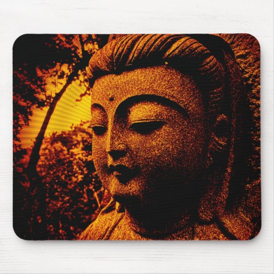 buddha-orange mousepad