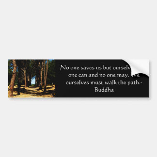 Buddha PATH Quote Bumper Sticker
