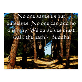 Buddha Path Quote Post Card