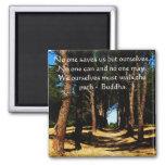 Buddha PATH Quote Square Magnet