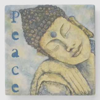 Buddha Peace Watercolor Art Stone Coaster