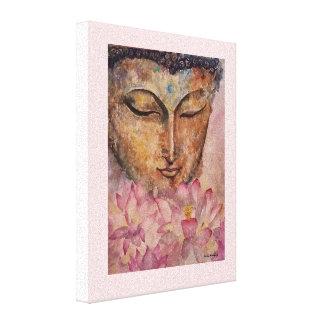 Buddha Pink Lotus Watercolor Canvas Print
