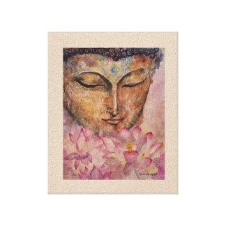 Buddha Pink Lotus Watercolor Canvas Print 8x10x1.5