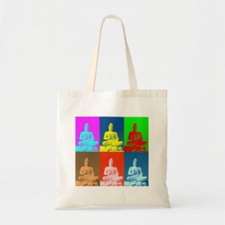 Buddha Pop Art Style Tote Bag