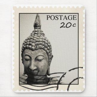 Buddha Postage Stamp Design Mouse Pad
