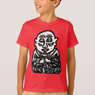 """Buddha Pray"" Kids Hanes TAGLESS® T-Shirt"