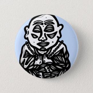 """""""Buddha Pray"""" Round Button"""