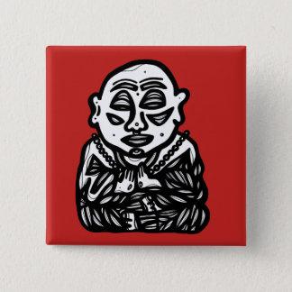 """Buddha Pray"" Square Button"