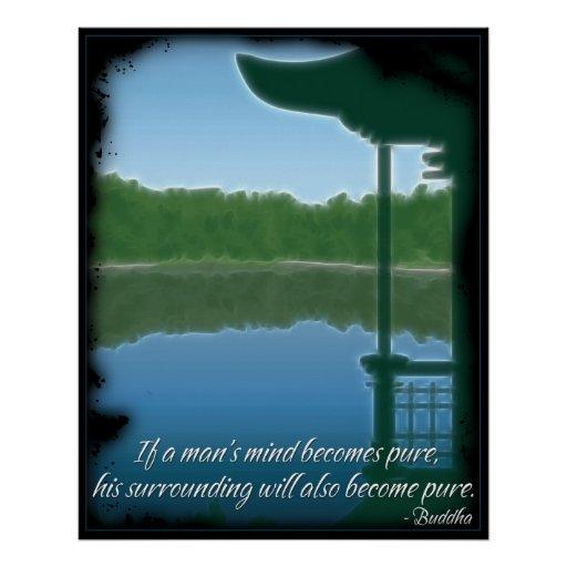 Buddha Pure Quote Poster