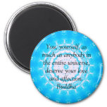 Buddha  QUOTATION Buddhist Spiritual Quotes 6 Cm Round Magnet