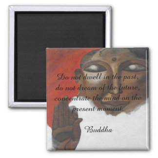 Buddha quotation on painted budha square magnet
