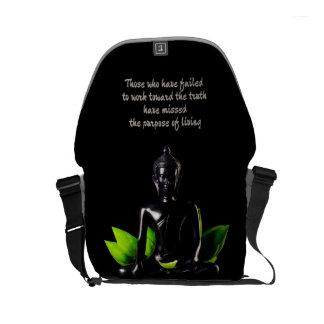 Buddha Quote 1 messenger bag