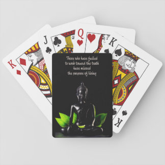 Buddha Quote 1 playing cards