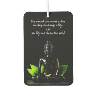 Buddha Quote 2 air freshner Car Air Freshener