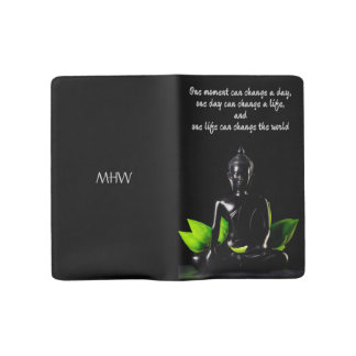 Buddha Quote 2 custom monogram notebooks