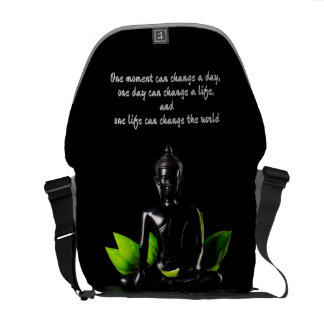 Buddha Quote 2 messenger bag
