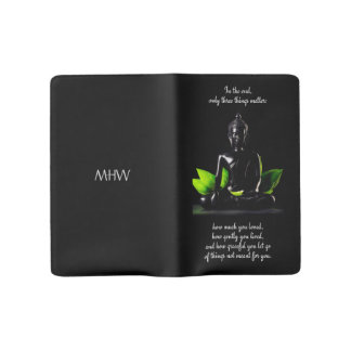 Buddha Quote 3 custom monogram notebooks