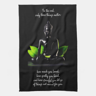 Buddha Quote 3 hand towel