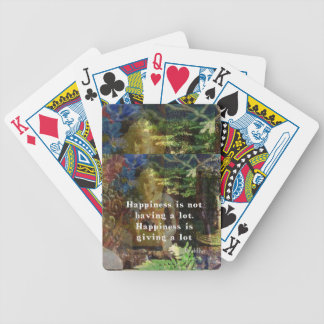 BUDDHA quote about happiness Bicycle Playing Cards