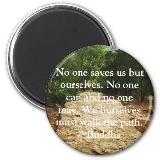 Buddha QUOTE about personal salvation and choices 6 Cm Round Magnet