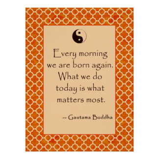 Buddha Quote Every Morning....  Posters