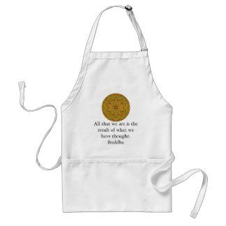Buddha quote inspirational yoga meditation art standard apron