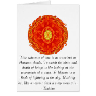 Buddha quote inspire motivational greeting card