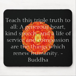Buddha quote inspire motivational mouse mat
