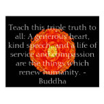 Buddha quote inspire motivational postcard