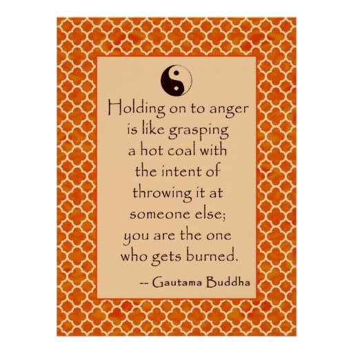 Buddha Quote Let Go of Anger. Posters