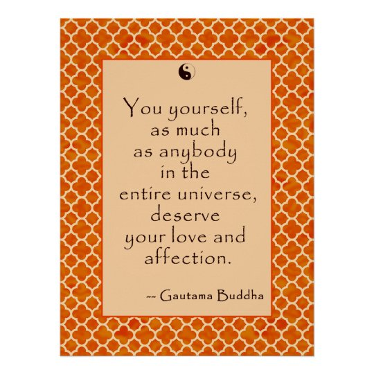 Buddha Quote Love Yourself. on Posters
