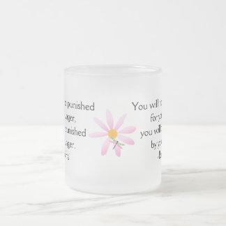 Buddha Quote-Pink Daisy+Dragonfly Coffee Mug