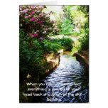 Buddha Quote - When you realise how perfect....... Greeting Card