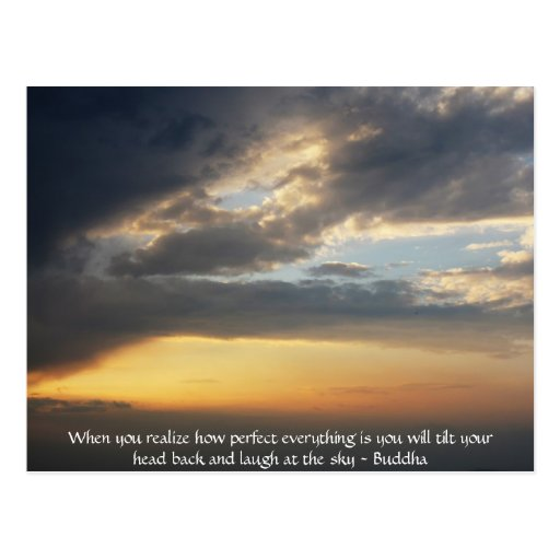 Buddha Quote - When you realize how perfect....... Postcards