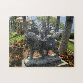 Buddha Riding a Lion Statue, Waikoloa, Hawaii Jigsaw Puzzle