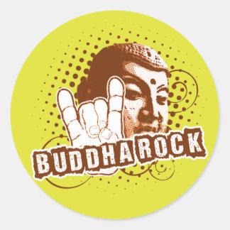 BUDDHA Rock & Roll ! Round Stickers