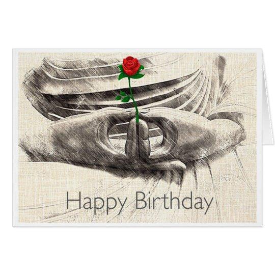 Buddha Rose Birthday Card