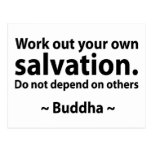 Buddha Salvation Quote Postcards