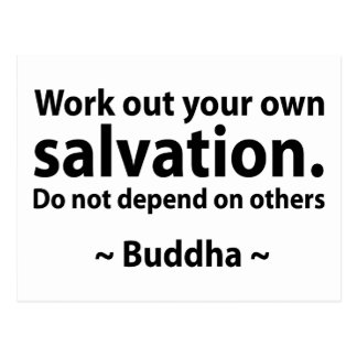 Buddha Salvation Quote Postcards