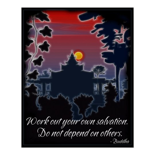 Buddha Salvation Quote Poster