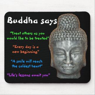 Buddha says mouse mat