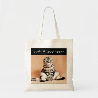 Buddha scottish fold cat shopping bag