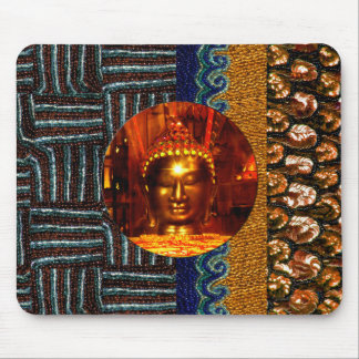 Buddha Sequin/Beads Mouse Pad