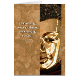 Buddha Serenity Strength Wisdom Inspiration Card