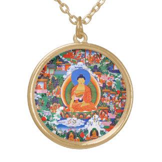 Buddha - Shakyamuni Buddha - Lord Buddha Gold Plated Necklace