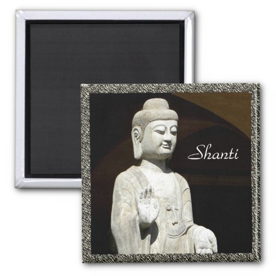 Buddha Shanti, framed Magnet