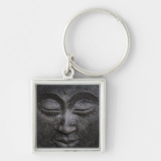 Buddha Silver-Colored Square Key Ring