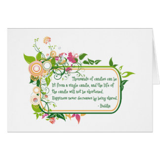 Buddha Single Candle Quote Greeting Card